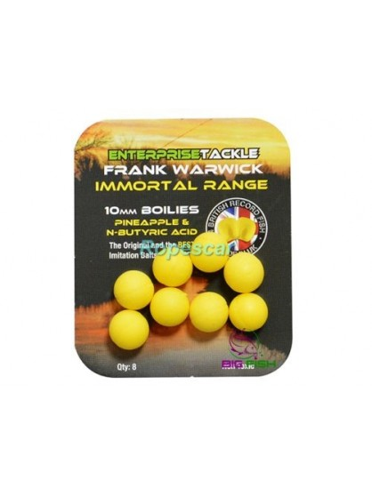 Immortals Boilies 10mm. fara aroma - galben - Enterprise Tackle