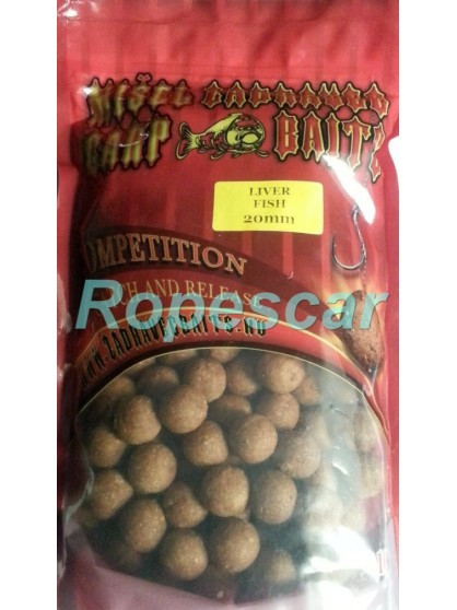 Boilies tare Competition Liver Fish 20 mm.- Misel Zadravec