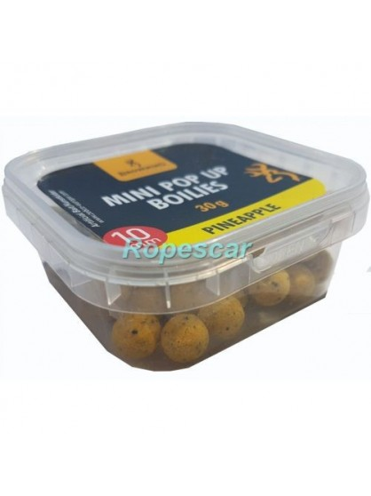 Boilies Mini 10 mm. Boilie pre-drilled yellow Pineapple - Browning