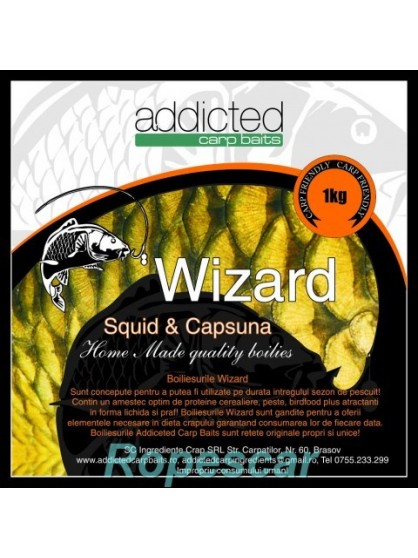 Boilies solubil Wizard - Addicted Carp Baits