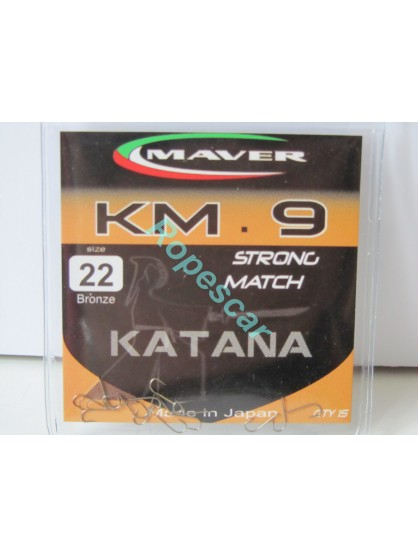 Carlige Katana seria match KM 9 Nickel Strong Match - Maver